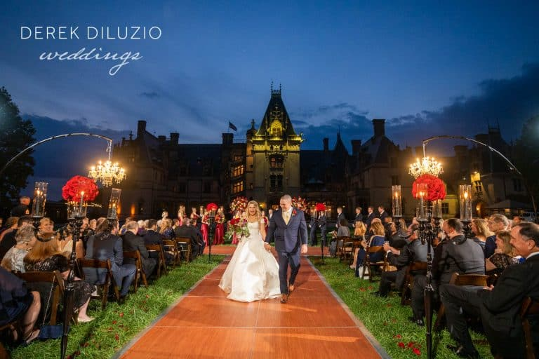 Lindsey And David's Wedding On The Front Lawn At Biltmore.